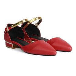 Giày Bệt Nữ Mũi Nhọn Quai Cổ Chân HC1318