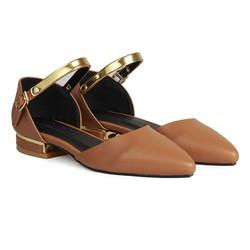 Giày Bệt Nữ Mũi Nhọn Quai Cổ Chân HC1319