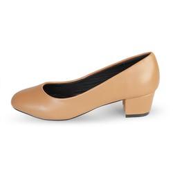 Giày Búp Bê Nữ Gót Vuông Mũi Bầu trơn HC1336