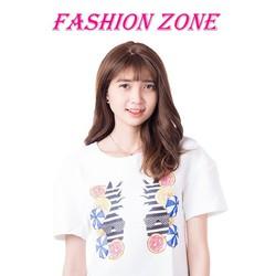 Áo kiểu cao cấp đơn giản in hình trẻ trung style Hàn Quốc