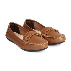Giày Mọi Da nữ Cột Nơ Dây HC1370