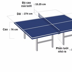 Cọc lưới bóng bàn Cima DHS P106