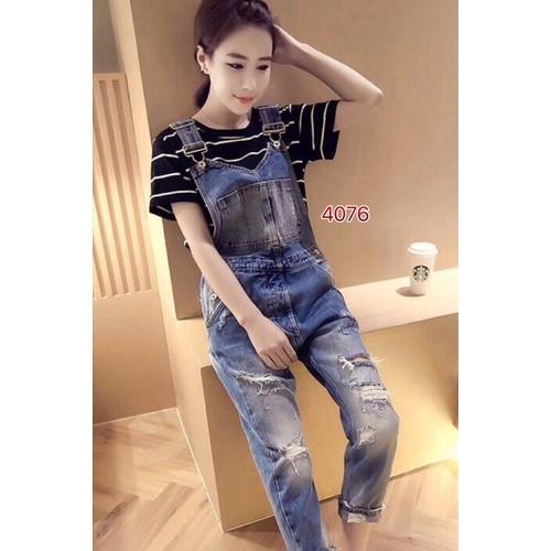 Quần yếm jean dài nữ - 4217413 , 5341422 , 15_5341422 , 230000 , Quan-yem-jean-dai-nu-15_5341422 , sendo.vn , Quần yếm jean dài nữ