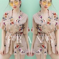 Đầm cột nơ eo thời trang - LV1447