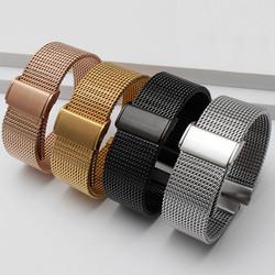 Dây đồng hồ, dây đồng hồ lưới thép không gỉ 18mm 20mm 22mm - MS:D1614