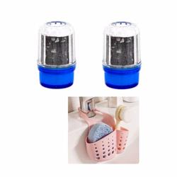 Bộ sản phẩm đầu lọc nước tại vòi tặng giỏ treo dụng cụ rửa chén