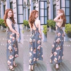 Đầm maxi hoa voan