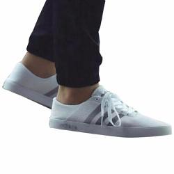 Giày nam đế bằng Neo Mesh White