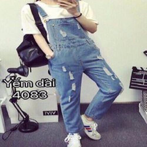 Quần yếm jean dài nữ - 4217409 , 5341355 , 15_5341355 , 230000 , Quan-yem-jean-dai-nu-15_5341355 , sendo.vn , Quần yếm jean dài nữ