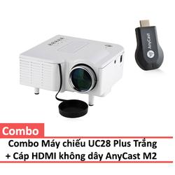 Combo Máy chiếu UC28 Plus + HDMI Không dây AnyCast M2 Plus