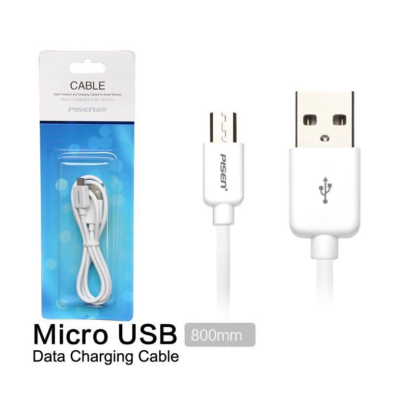 Cáp sạc Pisen. chân Micro USB 1