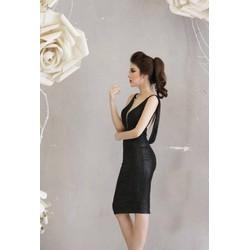 Đầm body đen sexy hở lưng 1475