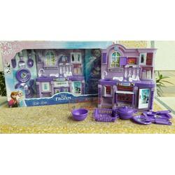 Bộ đồ chơi tủ bếp Elsa có đèn và âm thanh