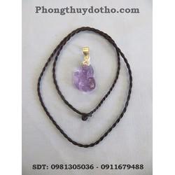 Bộ dây chyền mặt hồ ly màu tím dài 3 x 1,8 cm