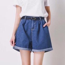 Quần short jean ống rộng