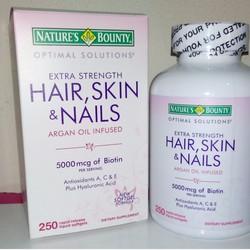 Viên Hair skin and nails 5000mcg Biotin 250viên đẹp da, khỏe tóc,móng
