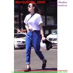 Quần jean nữ lưng cao thời trang QJR201