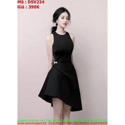 Đầm suông dự tiệc kiểu cổ yếm phong cách mới lạ sang trọng DSV224