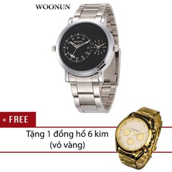 Đồng hồ 2 máy Woonun AL90 - Mua 1 tặng 1