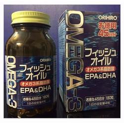Viên dầu cá Omega 3 Orihiro Nhật Bản hộp 180 viên