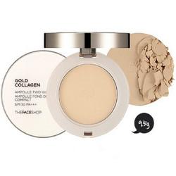 Phấn phủ The Face Shop Gold Collagen Ampoule V203 tự nhiên