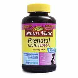 Viên nang Nature Made Prenatal DHA phù hợp cho phụ nữ mang thai