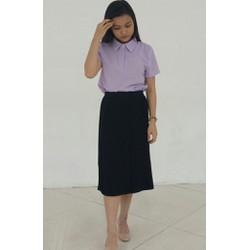 Chân váy công sở dập ly - Hàng May Thiết Kế hanhfs.com