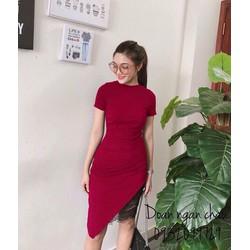 Đầm body lai ren tay con _MỎ CHU SHOP