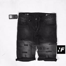 Quần ngố jean rách nam màu đen