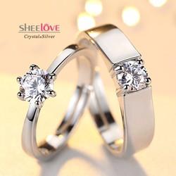Nhẫn đôi tình yêu lãng mạn vĩnh hằng thời trang sang trọng SPR-JZ154