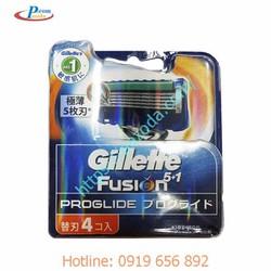 Hộp 4 lưỡi dao cạo râu Gillette Fusion Proglide