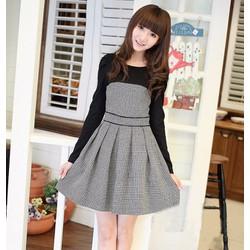 Đầm nữ dài tay thời trang, kiểu dáng xinh xắn-D10732978