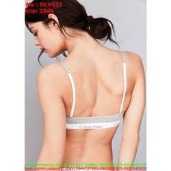 Sét đồ lót nữ áo 2 dây kiểu bra chất liệu thun cao cấp DLV131
