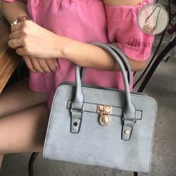 Túi xách tay nữ công sở màu xám túi xách kiểu dáng cầm tay đẹp