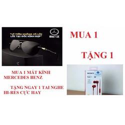 [MUA 1 TẶNG 1] Mắt kính Mecedes Benz tặng 1 tai nghe Hi-res cực hay