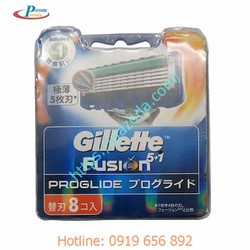 Hộp 8 lưỡi dao cạo râu Gillette Fusion Proglide