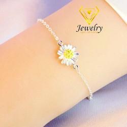 Vòng đeo tay Hoa Cúc sterling Silver  Korea