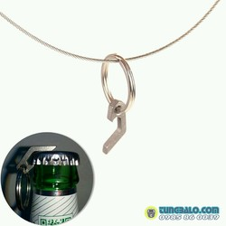 Móc khóa mở nắp chai mini