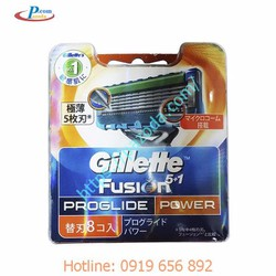 Hộp 8 lưỡi dao cạo râu Gillette Fusion Proglide Power