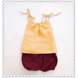 Set áo dây kết hợp quần bí cực yêu cho bé 1-8 tuổi