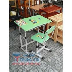 bàn học sinh cho bé, BHS 01 màu xanh