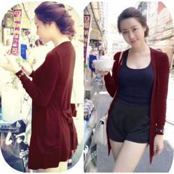 Áo khoác len form dài