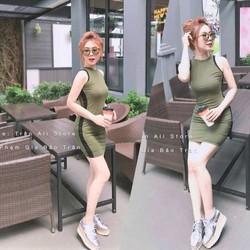 Đầm body 3 lỗ viền _MỎ CHU SHOP