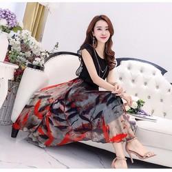 Hàng nhập: Đầm maxi nữ chất cực đẹp MX095