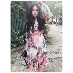 Đầm hoa hồng đuôi cá