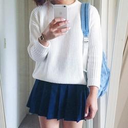 Chân váy tennis skirt xếp ly xanh coban VHS005