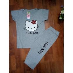 Bộ đồ ngố nữ in họa tiết mèo kitty