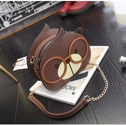 Túi xách thời trang nữ hình gấu đeo kính