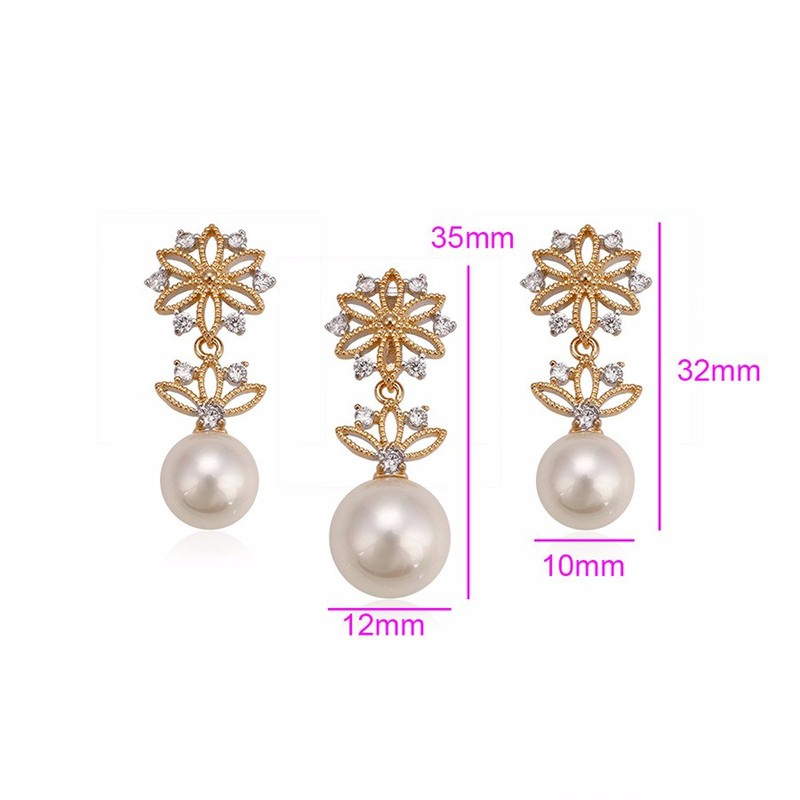 Bộ Trang Sức Hoa Ngọc Trai Cao Cấp XP 874 4