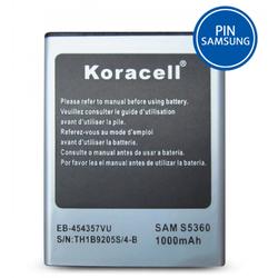 Pin Samsung-Galaxy Y S5360 hiệu Koracell 1000mAh